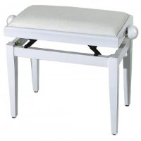 GEWA FX Piano Bench De Luxe White High Gloss White Seat Банкетка