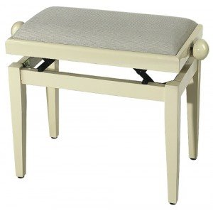 GEWA FX Piano Bench De Luxe Ivory High Gloss Beige Seat Банкетка