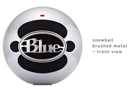BLUE Snowball brushed aluminium Микрофон