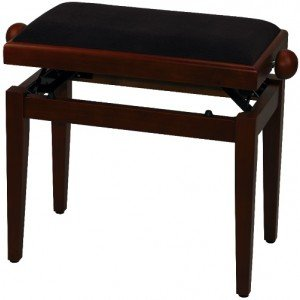 GEWA FX Piano Bench De Luxe Cherry Tree Matt Brown Seat Банкетка