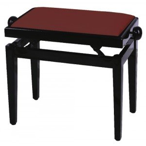 GEWA FX Piano Bench De Luxe Mahogany High Gloss Dark Red Seat Банкетка